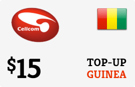 $15.00 Cellcom Guinea Prepaid Wireless Top-Up