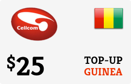 $25.00 Cellcom Guinea Prepaid Wireless Top-Up
