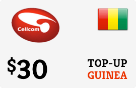 $30.00 Cellcom Guinea Prepaid Wireless Top-Up