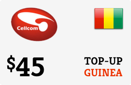 $45.00 Cellcom Guinea Prepaid Wireless Top-Up