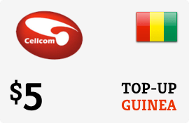 $5.00 Cellcom Guinea Prepaid Wireless Top-Up