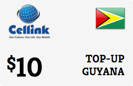 $10.00 Cellink Guyana Prepaid Wireless Top-Up