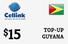 $15.00 Cellink Guyana Prepaid Wireless Top-Up