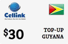 $30.00 Cellink Guyana Prepaid Wireless Top-Up