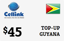 $45.00 Cellink Guyana Prepaid Wireless Top-Up