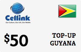 $50.00 Cellink Guyana Prepaid Wireless Top-Up