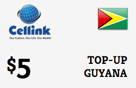 $5.00 Cellink Guyana Prepaid Wireless Top-Up