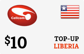 $10.00 Cellcom Liberia Prepaid Wireless Top-Up