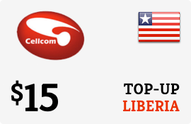 $15.00 Cellcom Liberia Prepaid Wireless Top-Up