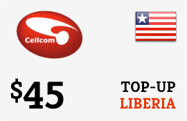 $45.00 Cellcom Liberia Prepaid Wireless Top-Up