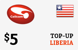 $5.00 Cellcom Liberia Prepaid Wireless Top-Up
