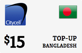$15.00 CityCell Bangladesh Prepaid Wireless Top-Up