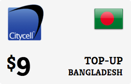 $9.00 CityCell Bangladesh Prepaid Wireless Top-Up