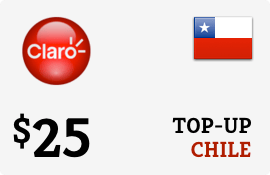 $25.00 Claro Chile Prepaid Wireless Top-Up