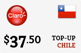 $37.50 Claro Chile Prepaid Wireless Top-Up