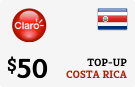 $50.00 Claro Costa Rica Prepaid Wireless Top-Up