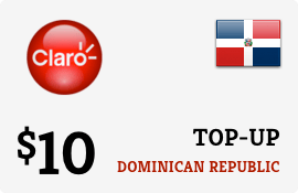 $10.00 Claro Dominican Republic Prepaid Wireless Top-Up