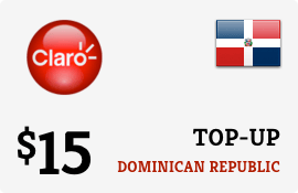$15.00 Claro Dominican Republic Prepaid Wireless Top-Up