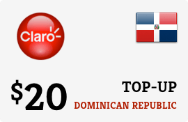 $20.00 Claro Dominican Republic Prepaid Wireless Top-Up