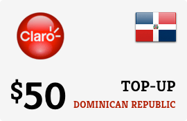 $50.00 Claro Dominican Republic Prepaid Wireless Top-Up