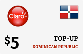 $5.00 Claro Dominican Republic Prepaid Wireless Top-Up