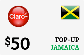 $50.00 Claro Jamaica  Prepaid Wireless Top-Up