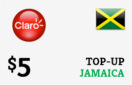 $5.00 Claro Jamaica  Prepaid Wireless Top-Up