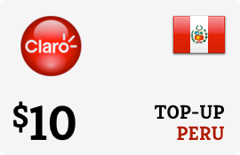$10.00 Claro Peru Prepaid Wireless Top-Up