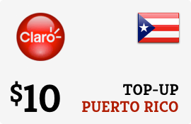 $10.00 Claro Puerto Rico  Prepaid Wireless Top-Up