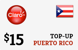 $15.00 Claro Puerto Rico  Prepaid Wireless Top-Up