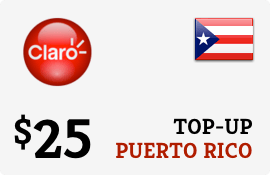 $25.00 Claro Puerto Rico  Prepaid Wireless Top-Up