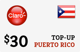 $30.00 Claro Puerto Rico  Prepaid Wireless Top-Up