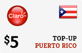 $5.00 Claro Puerto Rico  Prepaid Wireless Top-Up