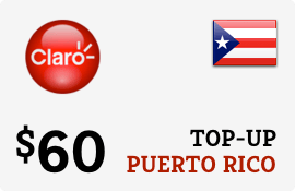 $60.00 Claro Puerto Rico  Prepaid Wireless Top-Up