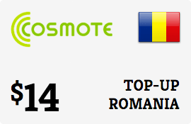 $14.00 Cosmote Romania Prepaid Wireless Top-Up