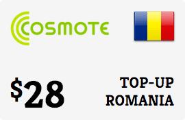 $28.00 Cosmote Romania Prepaid Wireless Top-Up