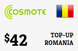 $42.00 Cosmote Romania Prepaid Wireless Top-Up