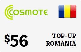 $56.00 Cosmote Romania Prepaid Wireless Top-Up