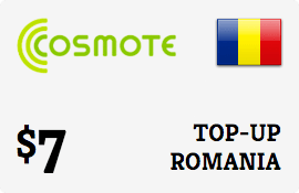 $7.00 Cosmote Romania Prepaid Wireless Top-Up
