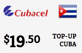 $19.50 Cubacel Cuba Prepaid Wireless Top-Up