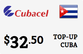$32.50 Cubacel Cuba Prepaid Wireless Top-Up