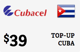 $39.00 Cubacel Cuba Prepaid Wireless Top-Up