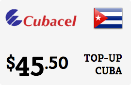 $45.50 Cubacel Cuba Prepaid Wireless Top-Up