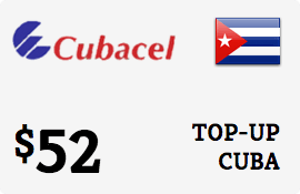 $52.00 Cubacel Cuba Prepaid Wireless Top-Up