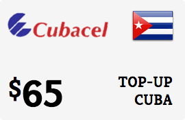 $65.00 Cubacel Cuba Prepaid Wireless Top-Up