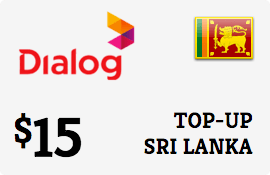 $15.00 Dialog Axiata Sri Lanka Prepaid Wireless Top-Up