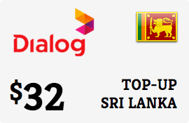 $32.00 Dialog Axiata Sri Lanka Prepaid Wireless Top-Up