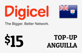 $15.00 Digicel Anguilla Prepaid Wireless Top-Up