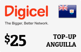 $25.00 Digicel Anguilla Prepaid Wireless Top-Up