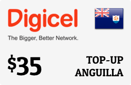 $35.00 Digicel Anguilla Prepaid Wireless Top-Up